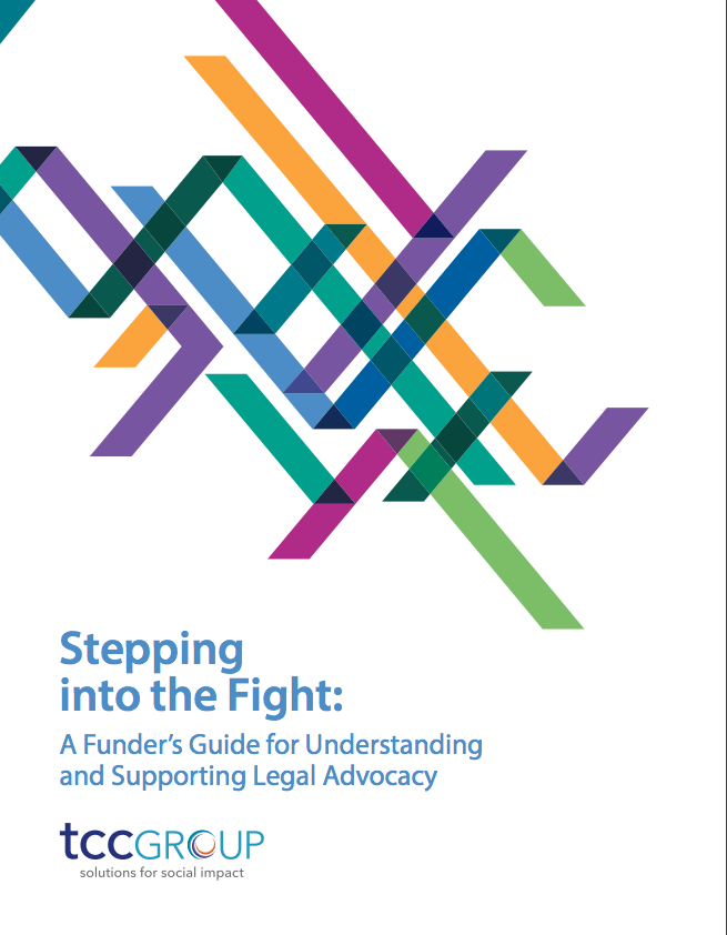 Stepping Into The Fight A Funders Guide For Understanding And Supporting Legal Advocacy